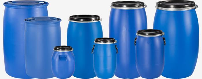 Kunststofffässer Kollage